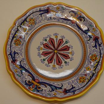 Italian Majolica Plate - Pottery