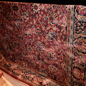 Comfortably Worn Oriental Rug [or knock-off?] - Rugs and Textiles
