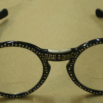 Vintage Rhinestone Folding Eyeglasses - Accessories