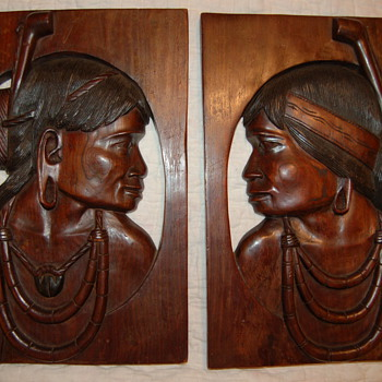 carved wood plaques