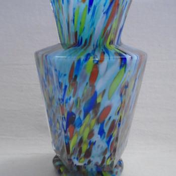 Welz Art Deco Miniature Hexagonal Vase - Art Glass