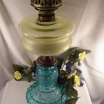 Canary and Blue Apollo Oil Lamp - Lamps