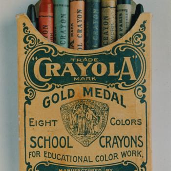 Crayola Crayons in box Circa 1903 - Advertising