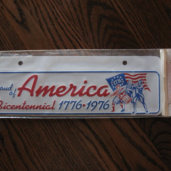 Bicentennial License Plate Sign - Signs