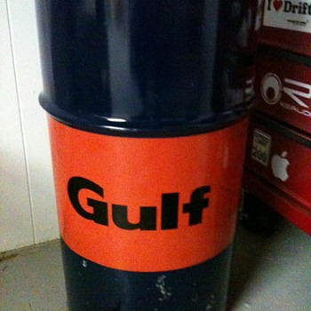 gulf grease can.