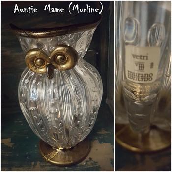 """My """"Auntie Mame"""" Owl -  Owl Vase - Gambaro & Poggi Murano - Animals"""