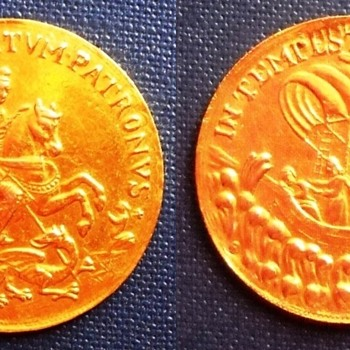 Kremnitz mint St.George gold and silver coin medals - World Coins