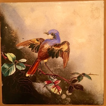 Hand Painted Tile Finely Done WHO MADE IT? - Pottery