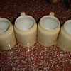 4 antique beer mugs Hausmann 4th Ave. NY