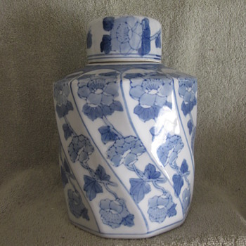 Antique Chinese Hand Painted Jar, Tea Caddie Need Help On ID Marking - Asian