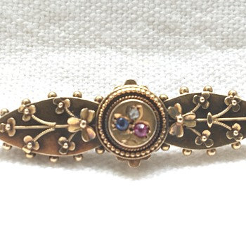 Antique gold brooch  - Fine Jewelry
