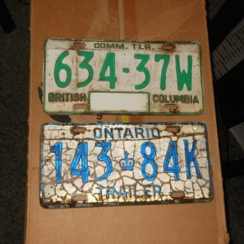 Canadian License Plates from Canada's Caperkid - Classic Cars
