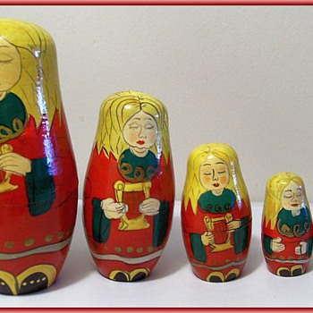 Wooden Russian Nestling Dolls