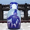 Degué CAMEO GLASS VASE 3 COLOURWAY FRANCE
