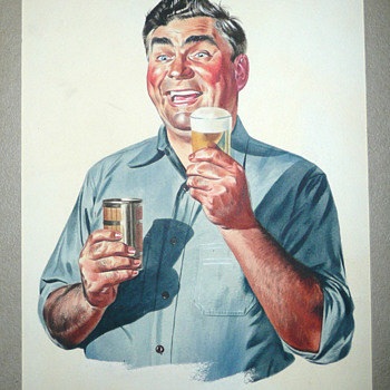 Beer Advertising Illustration Original Artwork  - Breweriana