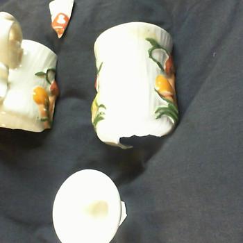 grandmas rick hamlet 1982 mushroom mug - Pottery