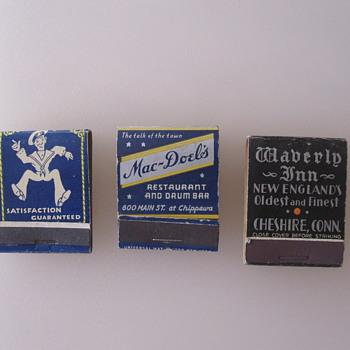 Vintage Matchbooks - Tobacciana
