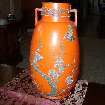 OLD ORANGE VASE - Glassware