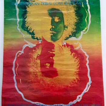 HAIR The Musical 1969 Advertising Poster