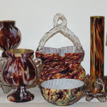"My New Welz Basket - And a Group of ""Friends""  - Art Glass"