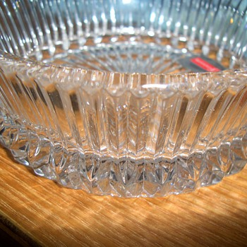 Unusual Cut Fostoria Bowl Packed away - Glassware