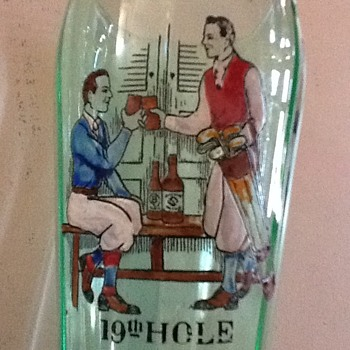 Unknown vintage maker--1920's -30's golfers glass? - Breweriana