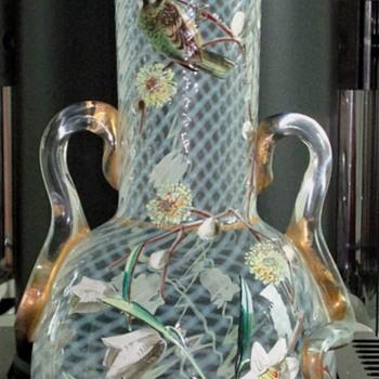 Harrach Glass Vase c1880