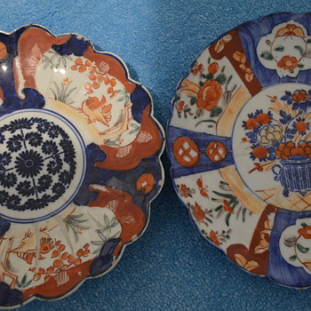 Two handpainted imari plates - Asian