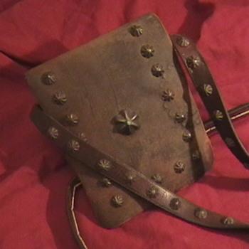 1910-1920's Navajo Medicine Man's Leather Pouch - Native American