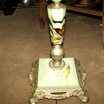 Houze Slag Glass Floor lamp - Lamps