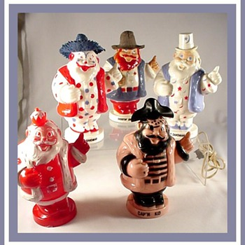Vintage Hard Plastic Holiday Toys - Christmas