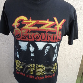 Reversed Ozzy Osbourne 1992 Theatre of Madness Concert Shirt with Harley Davidson Label - Music Memorabilia