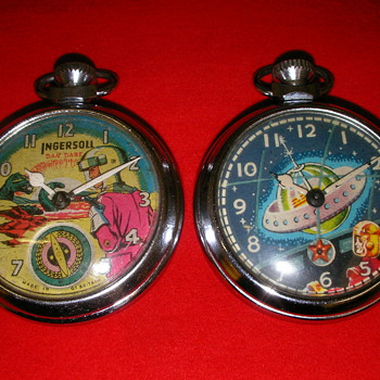 'Dan Dare' & 'From Outer Space' Animated Pocket Watches - Pocket Watches