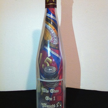 Men's One Of A Kind Necktie In A Sealed Wine Bottle. - Bottles
