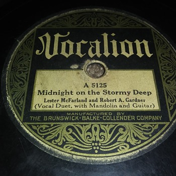 Way Back Wednesdays...Lester MacFarland And Robert Gardner..On 78 RPM Shellac - Records