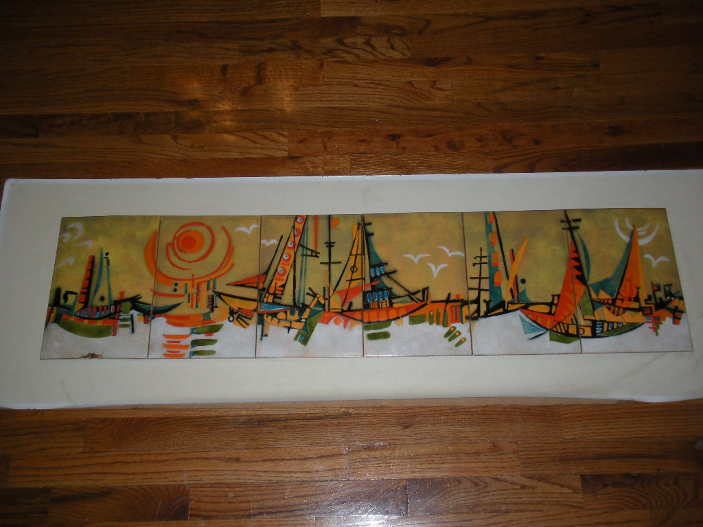 ENAMEL OVER COPPER MID CENTURY MODERN WALL ART