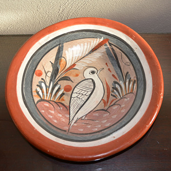 Hand Painted Wall Plate - Pottery