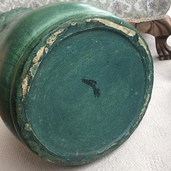 Weller Matte Green Umbrella Stand, Part 2 - Pottery