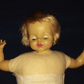 ideal toy corp. Baby doll 1965 with item #fl20-e-h-354