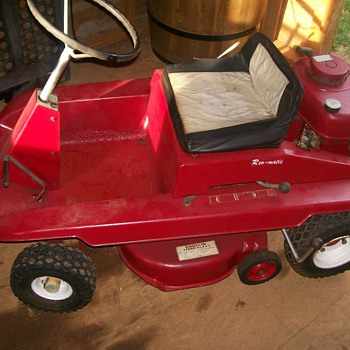 Cool lawnmower purcheased at antique auction