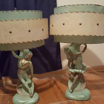 Mid Century Flamenco Dancers Table Lamp  - Lamps