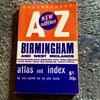 Old Birmingham street index map from 1971.