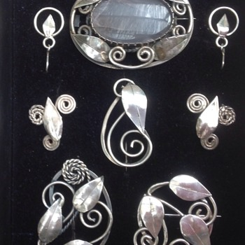 Gladys and Charles Mumford Brooches and Earrings