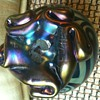 Blue Swirl Tiffany Style Perfume Bottle
