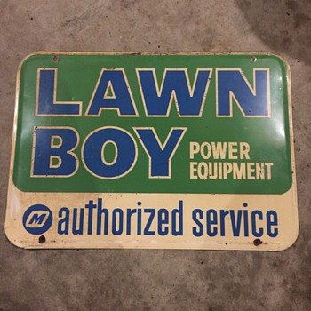 Lawnboy Service Sign (Canada Barker '67) - Petroliana