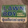 Lawnboy Service Sign (Canada Barker '67)