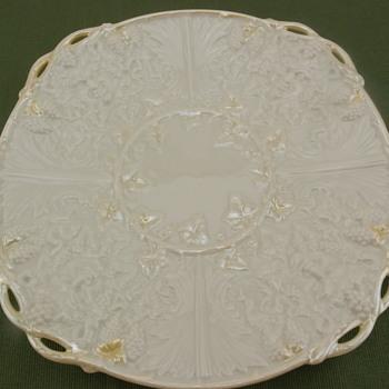 Belleek Mask Bread Plate - 3rd mark - Pottery