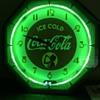 Early Green Neon Coca Cola Clock