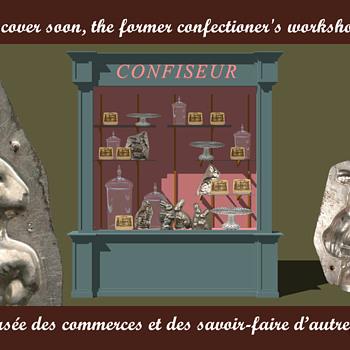 la vitrine du confiseur - Musée des commerces et des savoir-faire d'autrefois