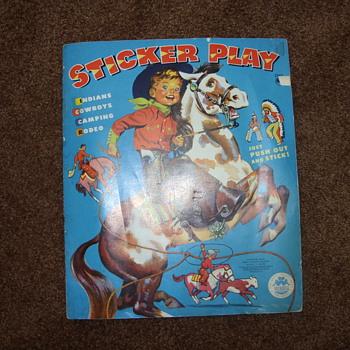 1960 sticker play book - Books